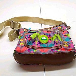 Lily Bloom Colorful Canvas Shoulder Bag Tore